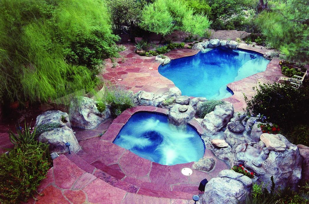 Ventana Area Pool Renovation Add Spa Soften Yard