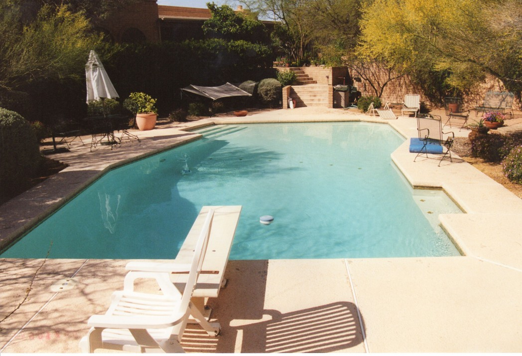 Ventana area pool renovation add spa soften yard for Az pond and pool
