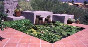 Water feature in Tucson, Arizona